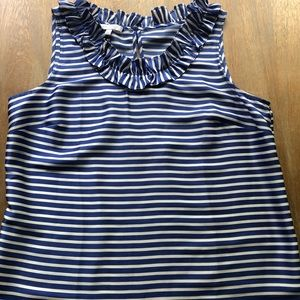 rsvp by Talbots blue and white stripe top